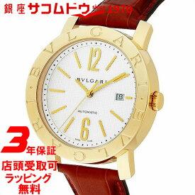 867f61483a ... 年保証] ブルガリ BVLGARI 腕時計 ウォッチ ブルガリブルガリ ホワイト文字盤 K18YGケース アリゲーター革ベルト 自動巻  BB42WGLDAUTO メンズ [並行輸入品]