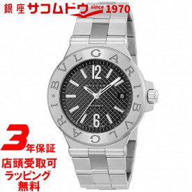 【店頭受取対応商品】[3年保証] ブルガリ BVLGARI 腕時計 ウォッチ ディアゴノ ブラック文字盤 自動巻 デイト DG40BSSD メンズ [並行輸入品]
