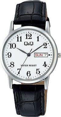 Q&Q 腕時計 キューアンドキュー Day&Date デイ&デイト ペアモデル メンズ ホワイト A206-304 [4966006067170-A206-304] [メール便 日時指定代引不可]