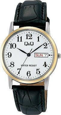 Q&Q 腕時計 キューアンドキュー Day&Date デイ&デイト ペアモデル メンズ ホワイト A206-504 [4966006067224-A206-504] [メール便 日時指定代引不可]