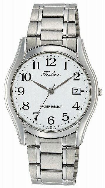 Q&Q 腕時計 キューアンドキュー Falcon ファルコン アナログ ブレスレット 日付 表示 ホワイト D016-204 メンズ [4966006066685-D016-204] [メール便 日時指定代引不可]
