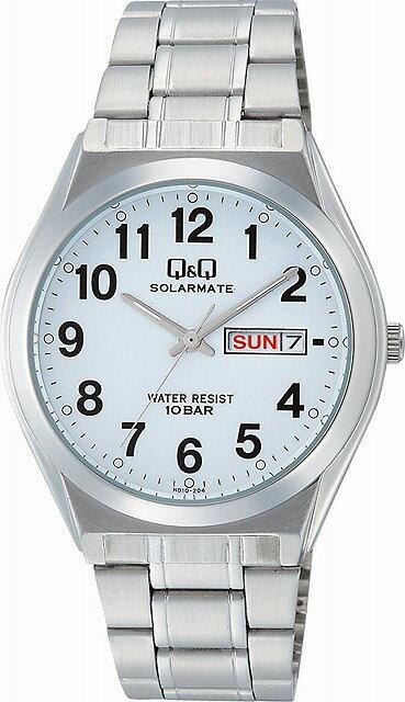 Q&Q 腕時計 キューアンドキュー 腕時計 SOLARMATE (ソーラーメイト) ソーラー電源 アナログ表示 日付表示 10気圧防水 ホワイト H010-204 メンズ [4966006062052-H010-204]