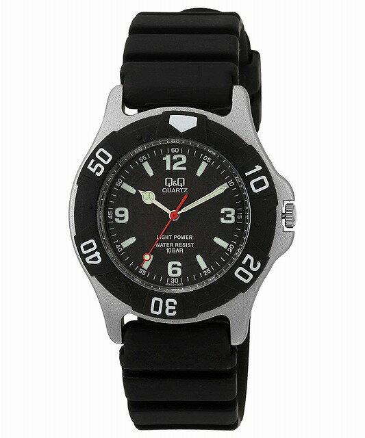 Q&Q 腕時計 キューアンドキュー 腕時計 SOLARMATE (ソーラーメイト) ソーラー電源 アナログ表示 10気圧防水 ブラック H950J002 メンズ [4966006041132-H950J002] [メール便 日時指定代引不可]