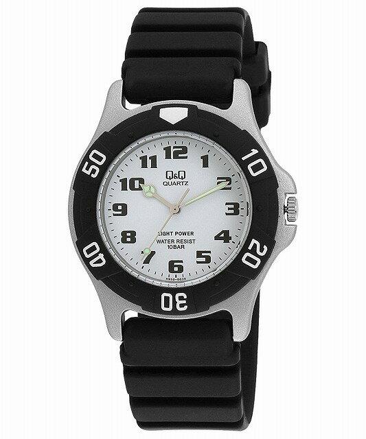 Q&Q 腕時計 キューアンドキュー 腕時計 SOLARMATE (ソーラーメイト) ソーラー電源 アナログ表示 10気圧防水 ホワイト H950J003 メンズ [4966006041149-H950J003] [メール便 日時指定代引不可]