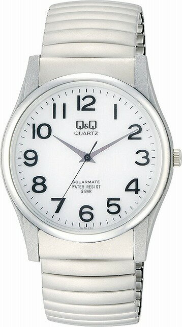 Q&Q 腕時計 キューアンドキュー 腕時計 SOLARMATE (ソーラーメイト) ソーラー電源 アナログ表示 5気圧防水 ホワイト H970-214 メンズ [4966006057454-H970-214] [メール便 日時指定代引不可]