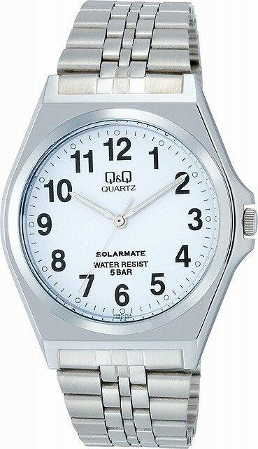 Q&Q 腕時計 キューアンドキュー 腕時計 SOLARMATE (ソーラーメイト) ソーラー電源 アナログ表示 5気圧防水 ホワイト H980-204 メンズ [4966006057522-H980-204] [メール便 日時指定代引不可]