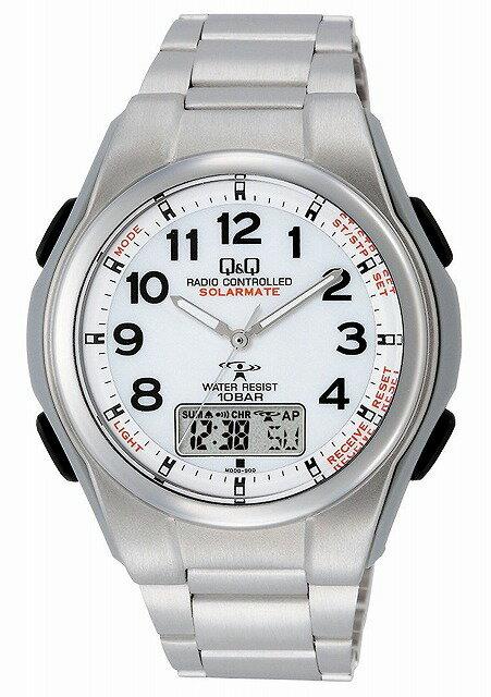 Q&Q 腕時計 キューアンドキュー 電波ソーラー ソーラーメイト アナログ 10気圧防水 MD08-204 腕時計 メンズ [4966006067521-MD08-204]