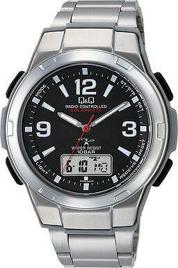 Q&Q 腕時計 キューアンドキュー 電波ソーラー ソーラーメイト アナログ 10気圧防水 MD08-205 腕時計 メンズ [4966006067538-MD08-205]
