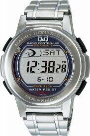 Q&Q キューアンドキュー 腕時計 ウォッチ SOLARMATE (ソーラーメイト) 電波ソーラー デジタル表示 シルバー MHS5-200 メンズ