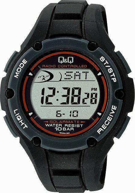 Q&Q 腕時計 キューアンドキュー 腕時計 SOLARMATE (ソーラーメイト) 電波ソーラー デジタル表示 クロノグラフ 10気圧防水 ブラック MHS6-300 メンズ [4966006060584-MHS6-300]