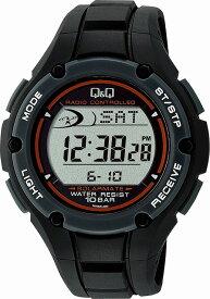 Q&Q キューアンドキュー 腕時計 ウォッチ SOLARMATE (ソーラーメイト) 電波ソーラー デジタル表示 ブラック MHS6-300 メンズ