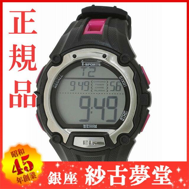 [クレファー]CREPHA 腕時計 T-SPORTS デジタル表示 10気圧防水 50ラップタイムメモリー計測機能付き ブラック×ピンク TS-D017-PK メンズ[スポーツ ファッション キッズ ウォッチ][3up]