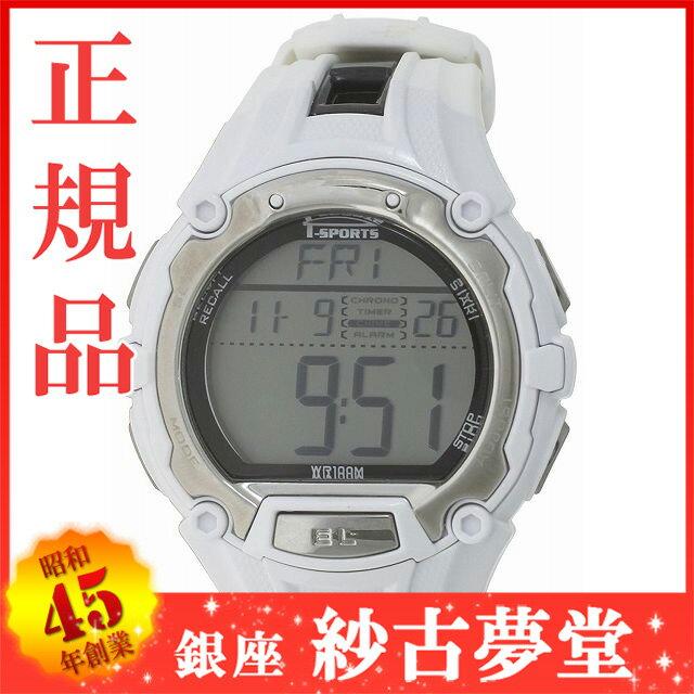 クレファー]CREPHA 腕時計 T-SPORTS デジタル表示 10気圧防水 50ラップタイムメモリー計測機能付き ホワイト×ブラック TS-D017-WT メンズ[スポーツ ファッション キッズ ウォッチ][3up]