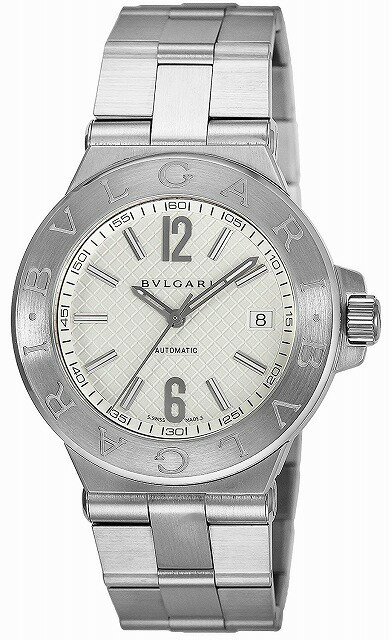 [当店だけのノベルティ付き] 【店頭受取対応商品】[3年保証] ブルガリ BVLGARI 腕時計 ウォッチ BVLGARI DG40C6SSD ディアゴノ クロノグラフ 自動巻き メンズ腕時計 ウォッチ シルバー/ホワイト [並行輸入品]