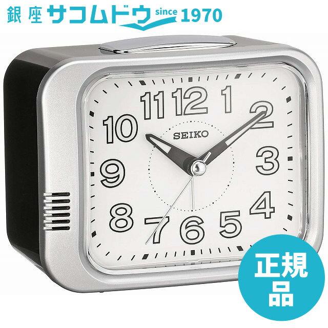 SEIKO CLOCK (セイコークロック) 目覚まし時計 アナログ 銀色メタリック KR896S