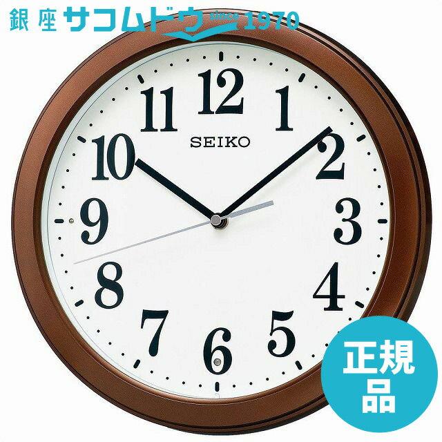 SEIKO CLOCK セイコー クロック 時計 電波掛時計 コンパクトサイズ プラスチック枠(茶メタリック塗装) KX379B[4517228033957-KX379B]