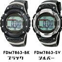 Formia フォルミア 電波ソーラーウォッチ デュアルタイムデジタル腕時計 ストップウォッチ ブラック FDM7863-BK シル…