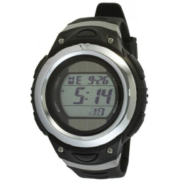 [クレファー]CREPHA ソーラー腕時計 デジタル表示 5気圧防水 ブラック FDM7660-BK メンズ[4547493042057-FDM7660-BK][3up]