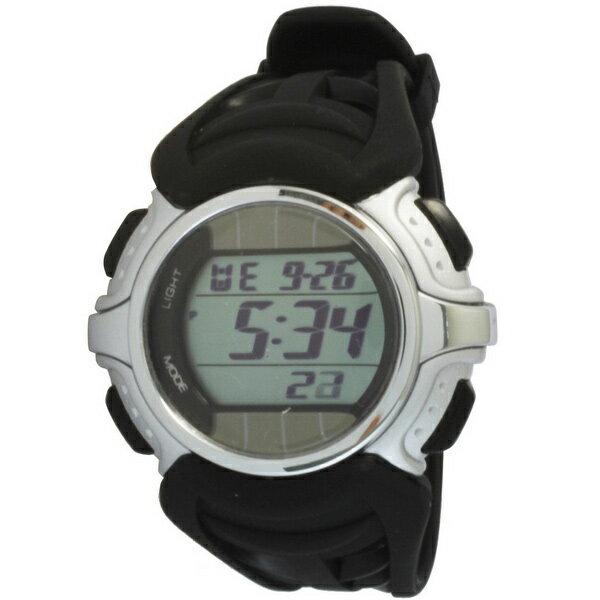 [クレファー]CREPHA ソーラー腕時計 デジタル表示 5気圧防水 シルバー FDM7661-SV メンズ[4547493042088-FDM7661-SV][3up]