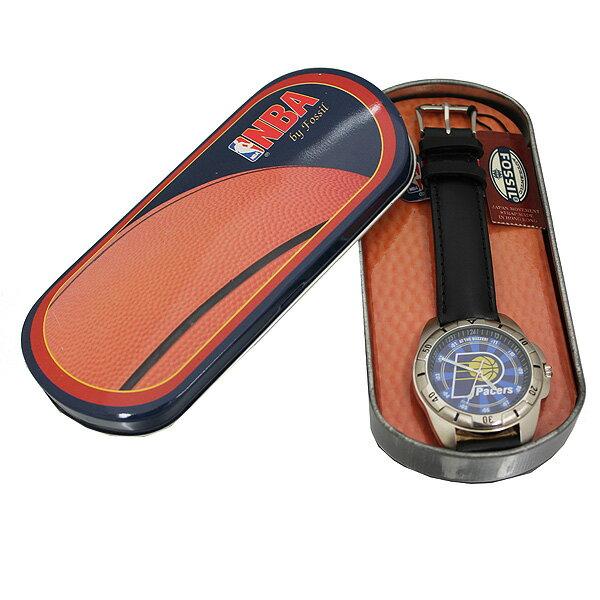 [訳ありアウトレット][正規品]FOSSIL フォッシル NBAウォッチ インディアナ・ペイサーズ LI-1540 オリジナル缶ケース付き バスケットボール