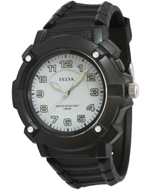 [テルバ]TELVA 紳士用腕時計 アナログ表示 10気圧防水 ホワイト TEV-2343-WT メンズ [正規輸入品]