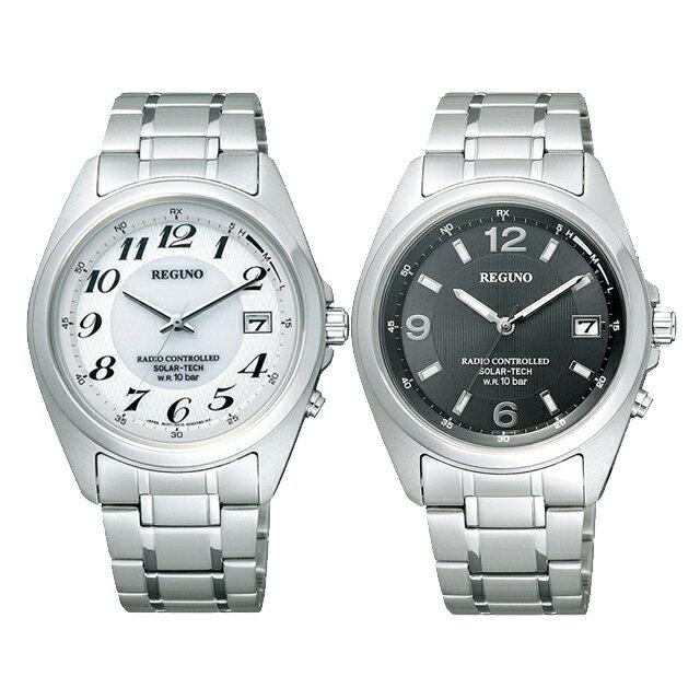 [選べる2種][シチズン]CITIZEN 腕時計 REGUNO レグノ ソーラーテック 電波時計 メンズ RS25-0343H RS25-0347H