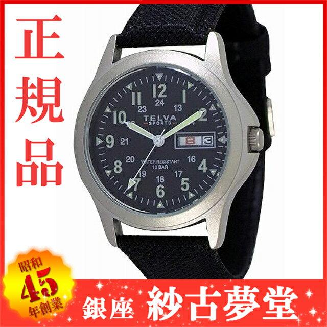 [クレファー]CREPHA ミリタリー腕時計 アナログ表示 デイデイト 10気圧防水 ブラック TEV-2275-BK メンズ [メール便 日時指定代引不可]