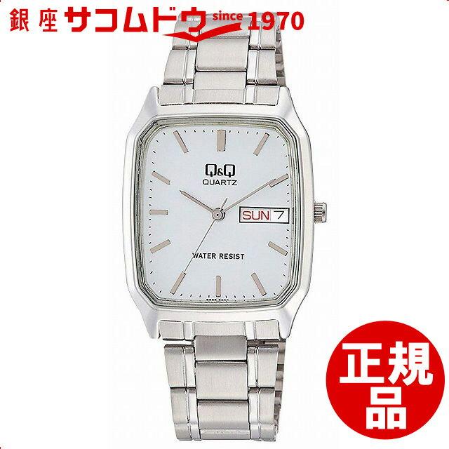 Q&Q 腕時計 キューアンドキュー スタンダード アナログ表示 シルバー A182-201 メンズ [4966006062786-A182-201] [メール便 日時指定代引不可]