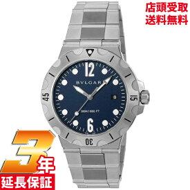 [店頭受取可][ブルガリ]BVLGARI 腕時計 ディアゴノプロフェッショナル ブルー文字盤 逆回転防止ベゼル ねじ込み式リューズ DP41C3SSSD メンズ 【並行輸入品】