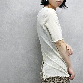 【20%OFF】Veleta ヴェレタ back button sheer tops(980-23128)Tシャツ【あす楽】【B】