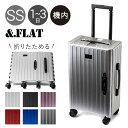 アンドフラット スーツケース 折りたためるキャリー 機内持ち込み 35L 49.5cm 3.8kg FL14-4-00001 &.FLAT|ハード フ…