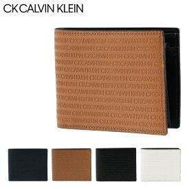 シーケー カルバンクライン 二つ折り財布 BOX型小銭入れ リピート メンズ802612 CK CALVIN KLEIN | 本革 レザー[PO5][bef]
