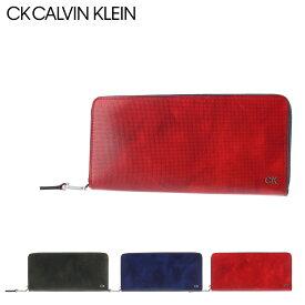 シーケー カルバンクライン 長財布 ラウンドファスナー レター メンズ 818626 CK CALVIN KLEIN|牛革 本革 レザー[bef][PO5]