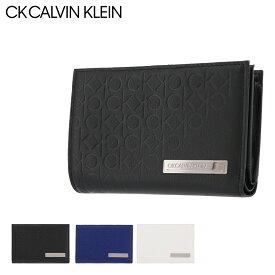 シーケー カルバンクライン 二つ折り財布 コモン 本革 レザー メンズ 824616 CK CALVIN KLEIN | セミ長財布 牛革 common[PO5]