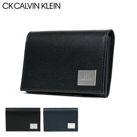 シーケー カルバンクライン 名刺入れ レジンII メンズ 826653 CK CALVIN KLEIN | 牛革 本革 レザー[bef][PO5]