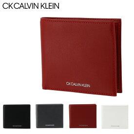 シーケー カルバンクライン 二つ折り財布 小銭入れなし サントス メンズ832623 CK CALVIN KLEIN | 本革 レザー[PO5][bef][即日発送]