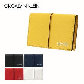 シーケー カルバンクライン 名刺入れ メンズ スパイン 819602 CK CALVIN KLEIN カードケース 牛革 本革 レザー[PO5][bef][即日発送]