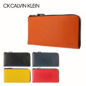 シーケー カルバンクライン 長財布 L字ファスナー メンズ メンズ ラップ 820222 CK CALVIN KLEIN スマートセルバッグ スマートクラッチ 多機能 本革 レザー [PO5][bef]