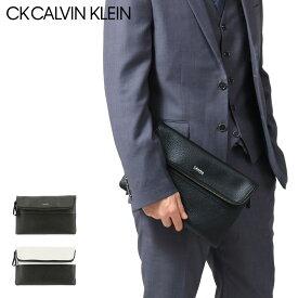 シーケーカルバンクライン セカンドバッグ メンズ デュオ バイカラー 831201 CK CALVIN KLEIN クラッチ ビジネス 本革 レザー [PO5][bef][即日発送]