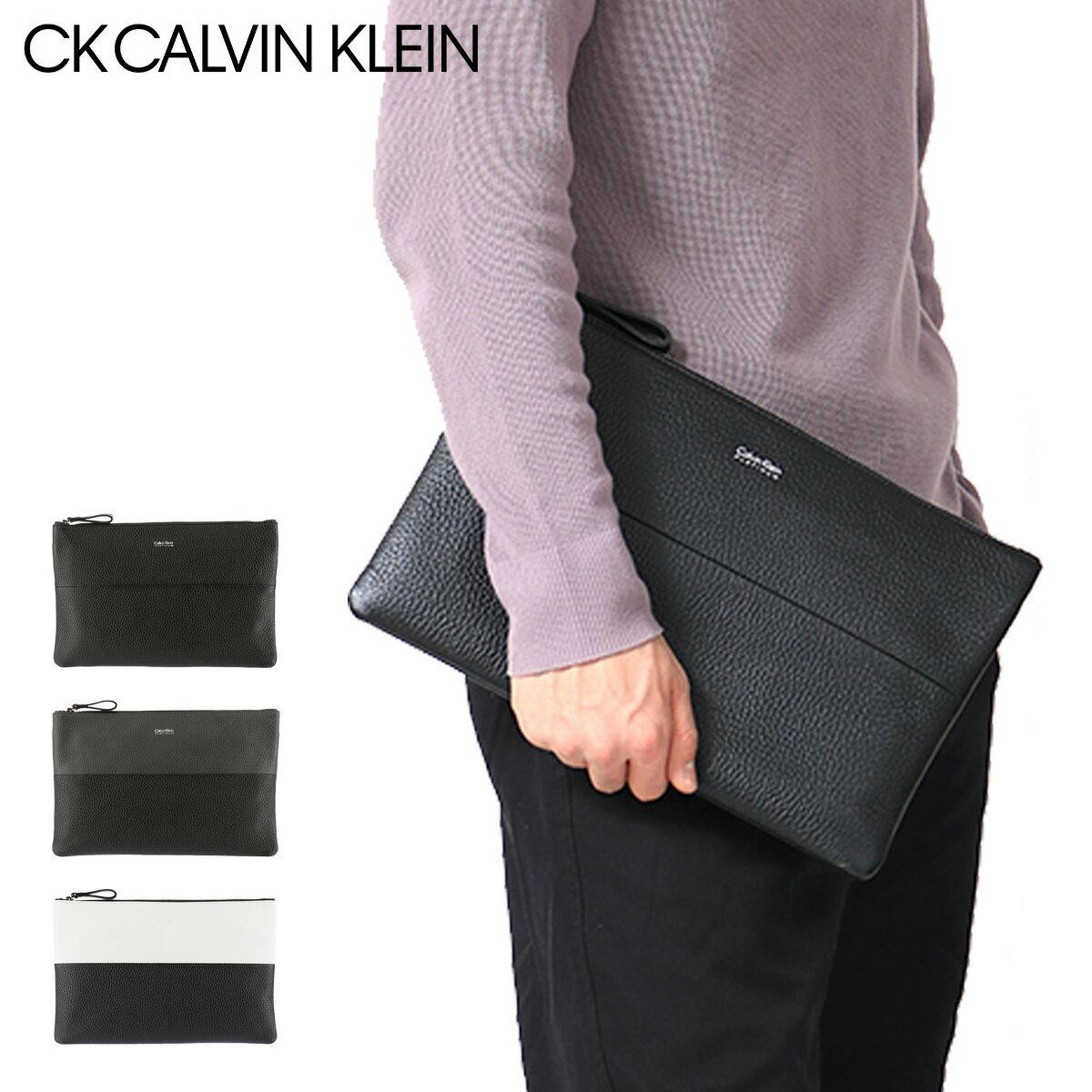 シーケーカルバンクライン セカンドバッグ メンズ デュオ バイカラー 831202 CK CALVIN KLEIN クラッチ ビジネス 本革 レザー [PO5][bef][即日発送]