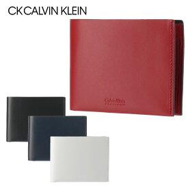 シーケーカルバンクライン 財布 二つ折り 薄型 メンズ フォーカス 852604 CK CALVIN KLEIN 本革 レザー [PO5][bef][即日発送]
