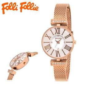 フォリフォリ 腕時計 ダイナスティ WF15B028BSM レディース FolliFollie ステンレススチール ミネラルガラス SS