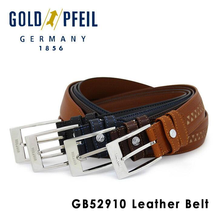 ゴールドファイル ベルト メンズ GB52910 GOLD PFEIL 本革 レザー [PO10][bef]