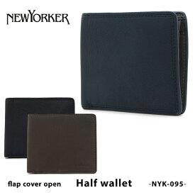 ニューヨーカー 二つ折り財布 メンズ NYK095 NEWYORKER マディソン 本革 レザー [PO5][bef]