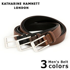 キャサリンハムネット ベルト メンズ KH-505032 本革 イタリアンレザー KATHARINE HAMNETT ブランド専用BOX付き [PO10][bef][即日発送]