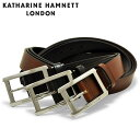 キャサリンハムネット ベルト メンズ KH-506028 本革 レザー KATHARINE HAMNETT ブランド専用BOX付き [PO10][bef][即…