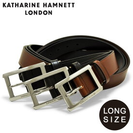 キャサリンハムネット ベルト ロングサイズ メンズ KH-506028L KATHARINE HAMNETT|大きいサイズ ビジネス カジュアル フォーマル 牛革 本革 レザー[PO10][bef][即日発送]