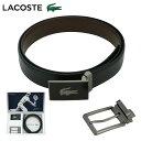 ラコステ ベルト ギフトセット メンズ LB87310 日本製 LACOSTE | リバーシブル 本革 レザー プレゼント[PO5][bef][ク…