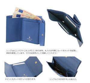 2c6ebe6ccd1f ランバンオンブルー三つ折り財布シャペルレディース482014LANVINenBleu|本革レザーブランド専用BOX