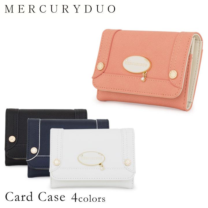 マーキュリーデュオ MERCURYDUO カードケース MDS-7040 【 シャロン 】【 二つ折り 名刺入れ レディース マグネットホック 】【即日発送】